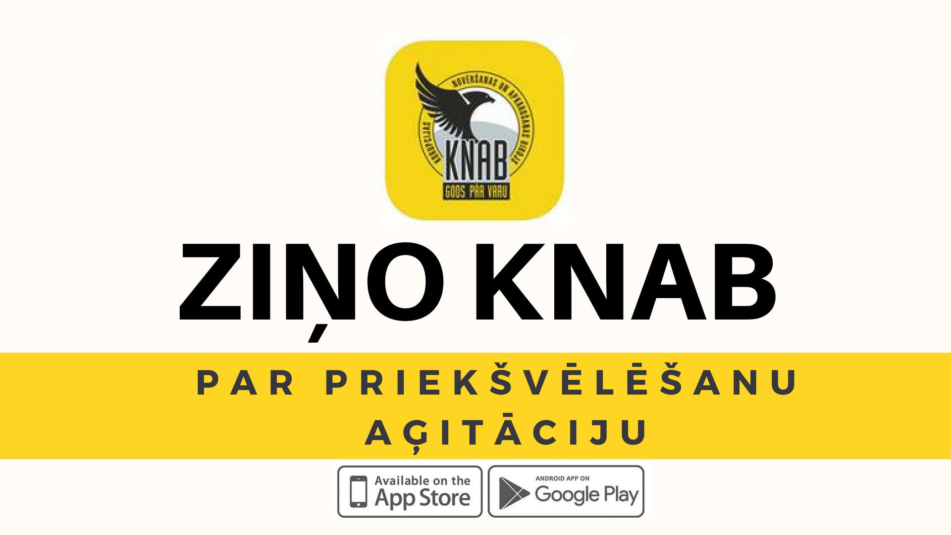 Ziņo KNAB